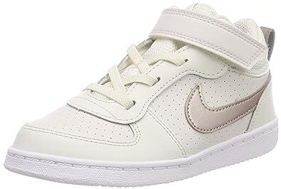 huge discount 73d8f d37ee Nike Court Borough Mid, Sneakers Basses bébé Fille, Multicolore  (Phantom MTLC Red