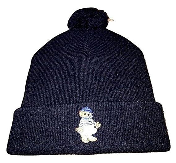 Polo Ralph Lauren Polo Bear Girl Beanie Wool Hat NWT Winter Hunter Navy  Beany 0d70b932ce37