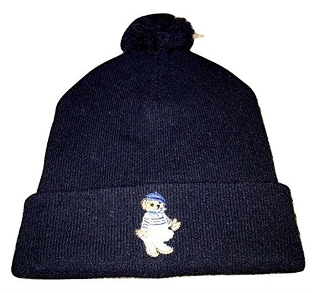 Polo Ralph Lauren Polo Bear Girl Beanie Wool Hat NWT Winter Hunter Navy Beany