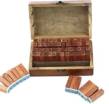 ULTNICE 70pcs alfabeto sellos número de sellos sello de caucho ...