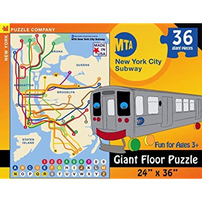 New York Puzzle Company - New York City Transit MTA Subway Kids - 36 Piece Jigsaw Puzzle: Toys & Games