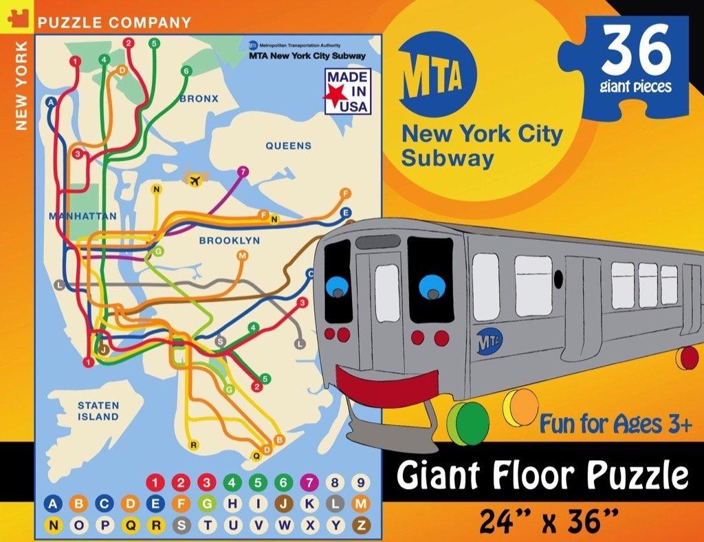 Subway Map Nyc 6 Train.New York Puzzle Company New York City Transit Mta Subway Kids 36 Piece Jigsaw Puzzle