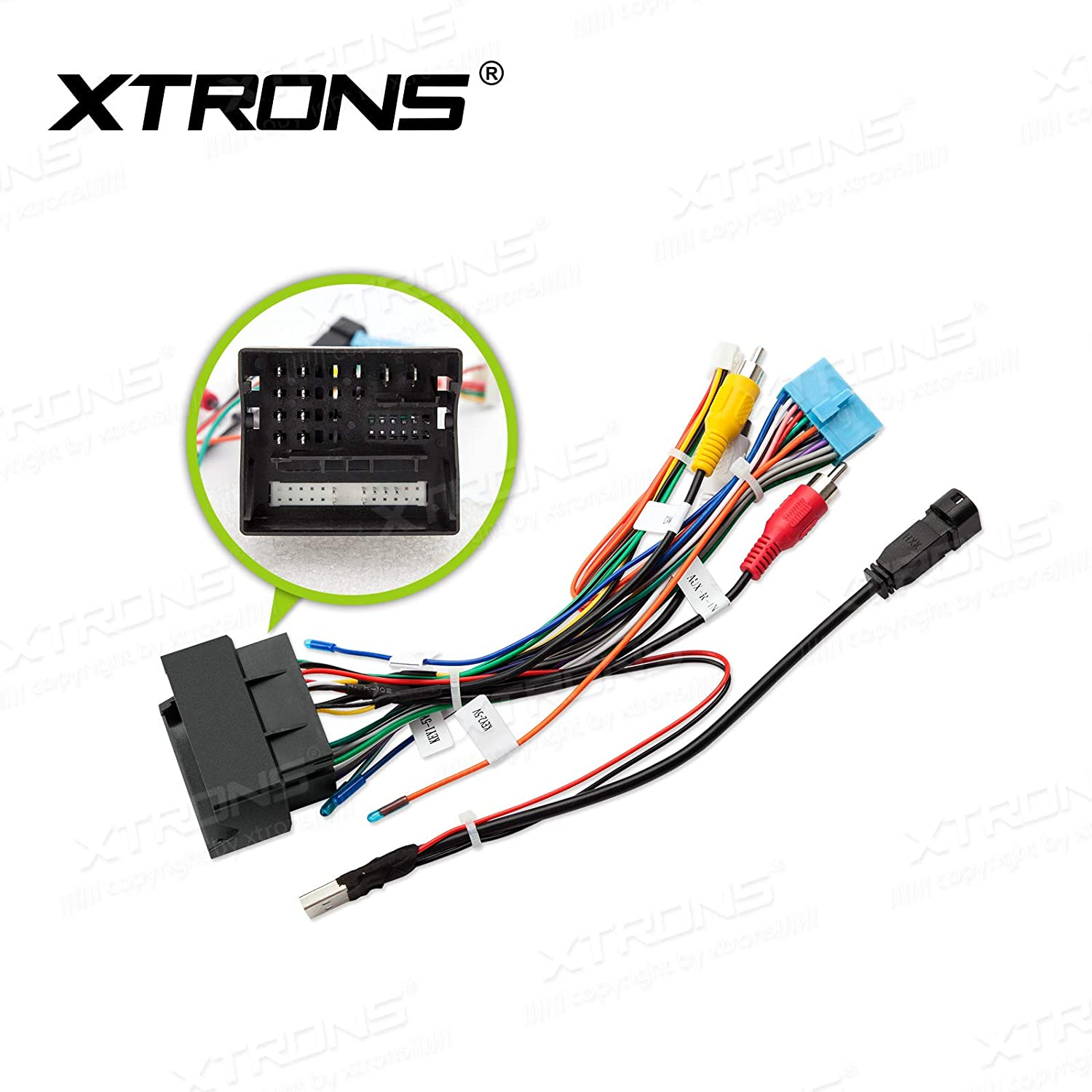 [SCHEMATICS_4JK]  Amazon.com: XTRONS ISO Wiring Harness for VW Golf for Skoda Car Stereo DVD  Player Android Head Unit: Car Electronics | Vw Golf Wire Harness |  | Amazon.com
