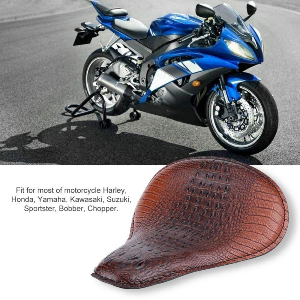 KIMISS Motorrad Autositz Calabash Bronze Soft Leather Solo Sitzfeder orange