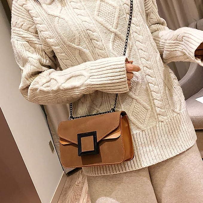 Mujer Pequeña Color Sólido Bolso Cuadrado Cruzado Moda Bolso ...