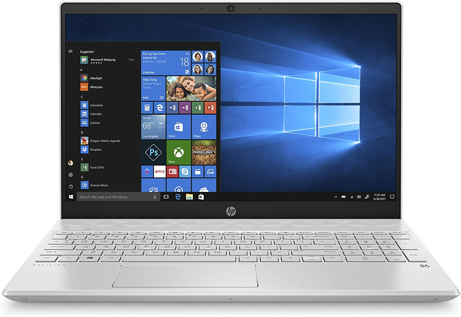 HP Pavilion 15-inch Laptop, Intel Core i7, 16 GB RAM, 512 GB SSD Storage, Intel Iris Plus Graphics, Windows 10 Home