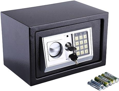 Caja de Seguridad Digital con Cerradura para Dinero en Efectivo, Monedas, Joyas, Llaves, Dinero en Efectivo: Amazon.es: Bricolaje y herramientas