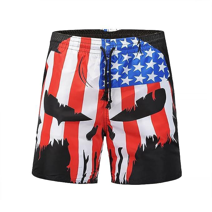 29093f695e Mens 3D Printed Funny Swim Trunks Quick Dry Surf Beach Shorts Sports  Running Swim Board Shorts