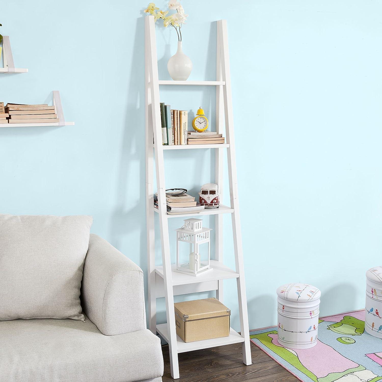 SoBuy Estanterias Librerias,Estanterias de Diseño,Estantería de Esquina, Blanco,FRG101-W, ES: Amazon.es: Hogar