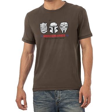 Texlab Mercenaries - Herren T-Shirt, Größe S, Braun