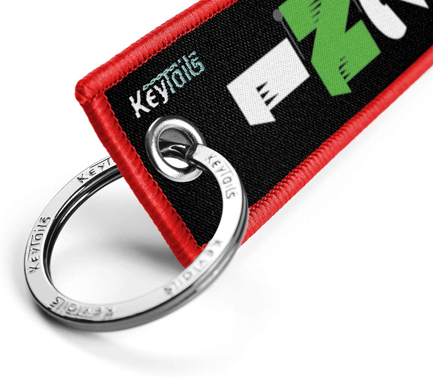 Premium Quality Key Tag for Motorcycle KEYTAILS Keychains 1 Down 5 Up - 65432N1 Sportbike