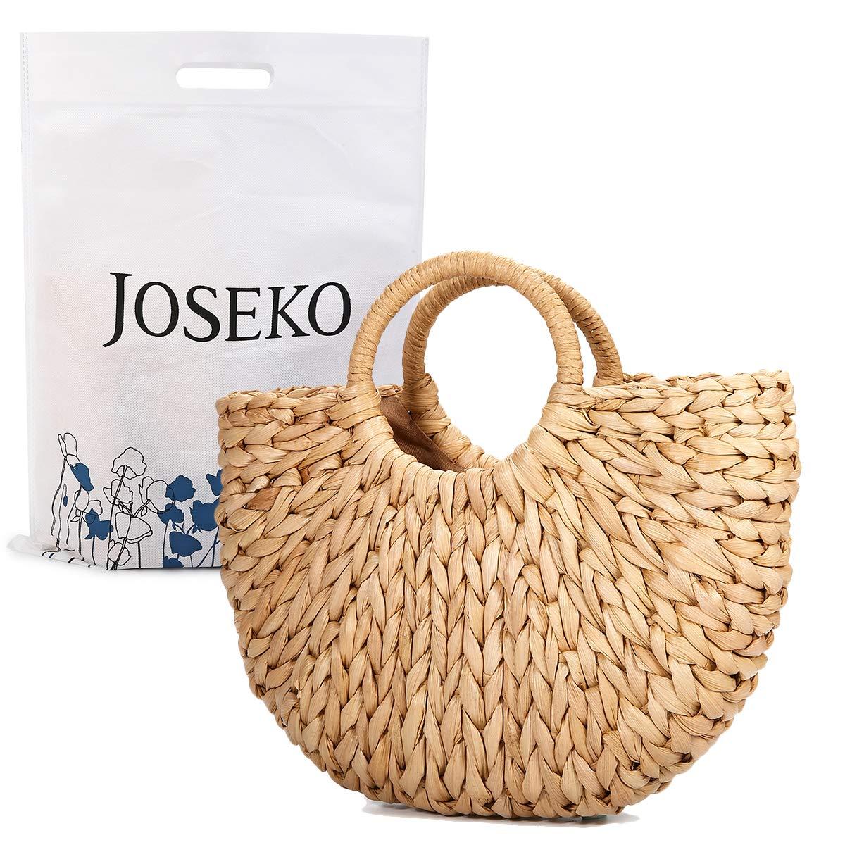 Summer Beach Bag, JOSEKO Women Straw Handbag Top Handle Shoulder Bag Travel Tote Purse