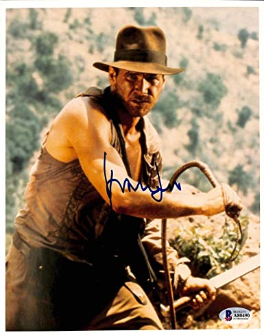 141dc86d6d3c1 Harrison Ford Indiana Jones   The Temple Of Doom Signed 8x10 Photo BAS   A80490 - Beckett Authentication at Amazon s Entertainment Collectibles  Store