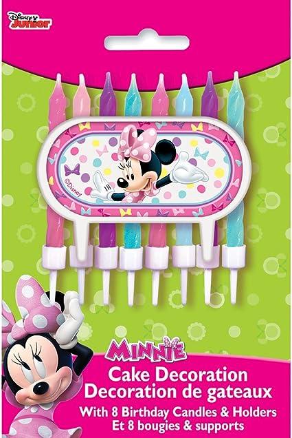 Amazon.com: Diseño único de Minnie Mouse., set de velas ...