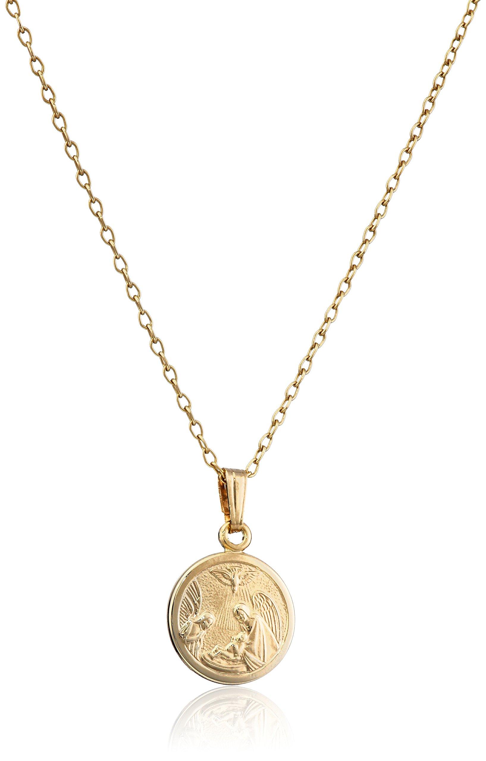 Galleon Children S 14k Gold Filled Round Guardian Angel