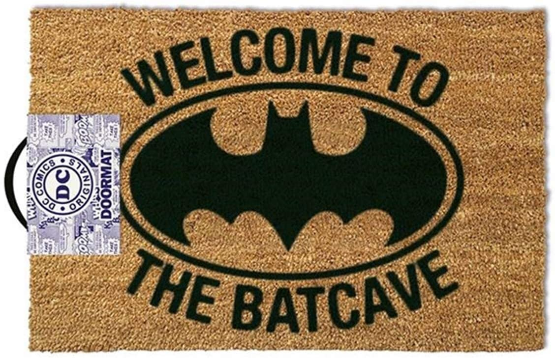 1art1 Batman Door Mat Floor Mat – Welcome to The Batcave 24 x 16 inches