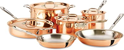 All-Clad CD0010 C2 COPPER CLAD Cookware Set with Bonded Copper Exterior
