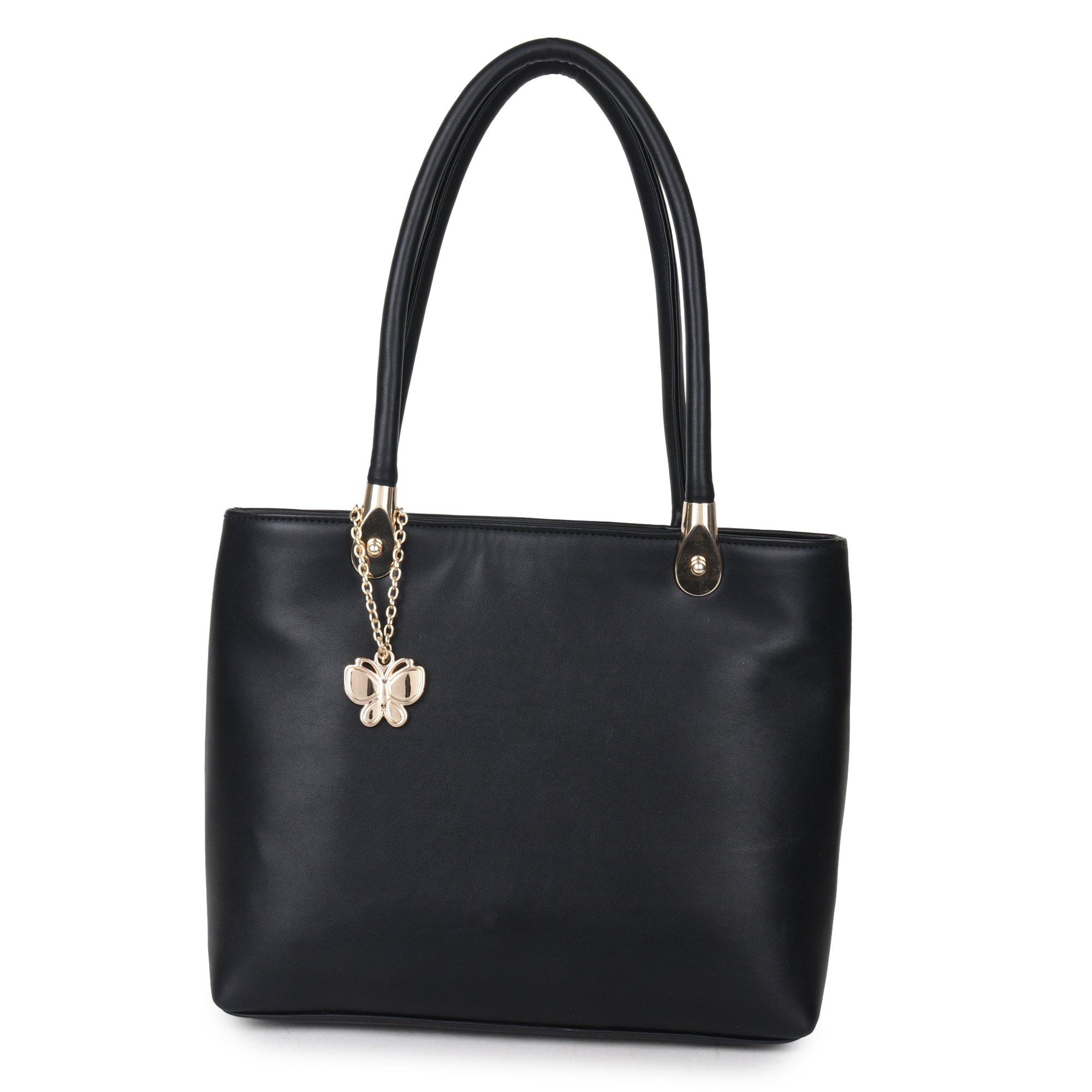 Butterflies Women Handbag (Black) (BNS 0654BK) product image