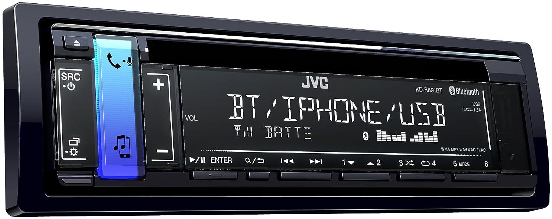 JVC KD-R891BT 50W Bluetooth Negro Receptor Multimedia para Coche - Radio para Coche (87,5-108 MHz, 531-1611 kHz, MOSFET, 2 lí neas, LCD, Negro) 2 líneas