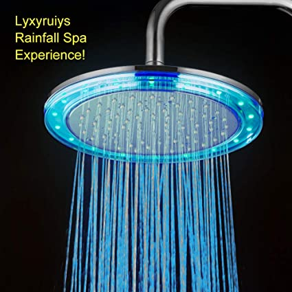 Shower Equipment Provided Colorful Led Shower Head 7-color Changing Shower Head No Battery Led Waterfall Shower Head Round Bathroom Showerhead Freeship Bathroom Fixtures
