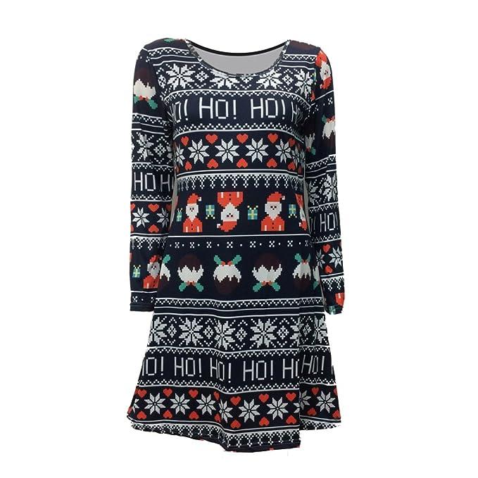 TOOGOO(R) Herbst Winter hochwertiges Weihnachtskleid fuer Frauen ...