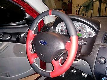 Amazon.com: Ford Focus Mk2 EUR 2004-10 cubierta del volante de RedlineGoods: Automotive