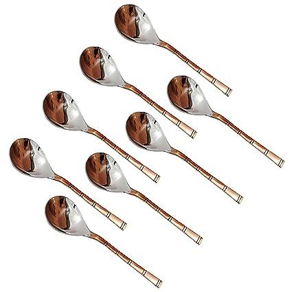 AVS tiendas® Juego de 8, cucharas de servicio cubiertos Set para partes de acero
