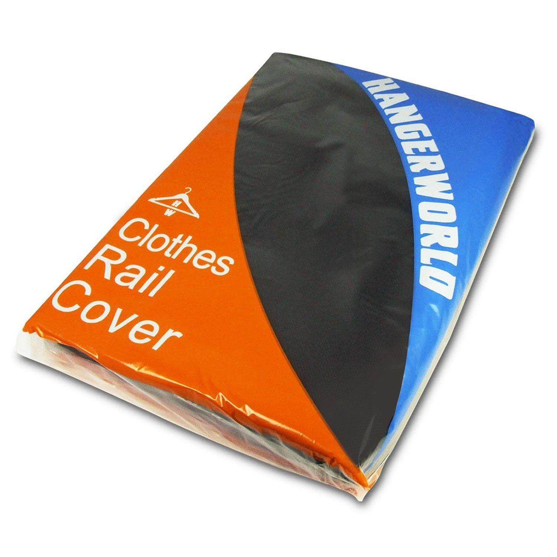 Hangerworld Funda Transpirable Protectora Perchero móvil, 122 cm, Color Negro