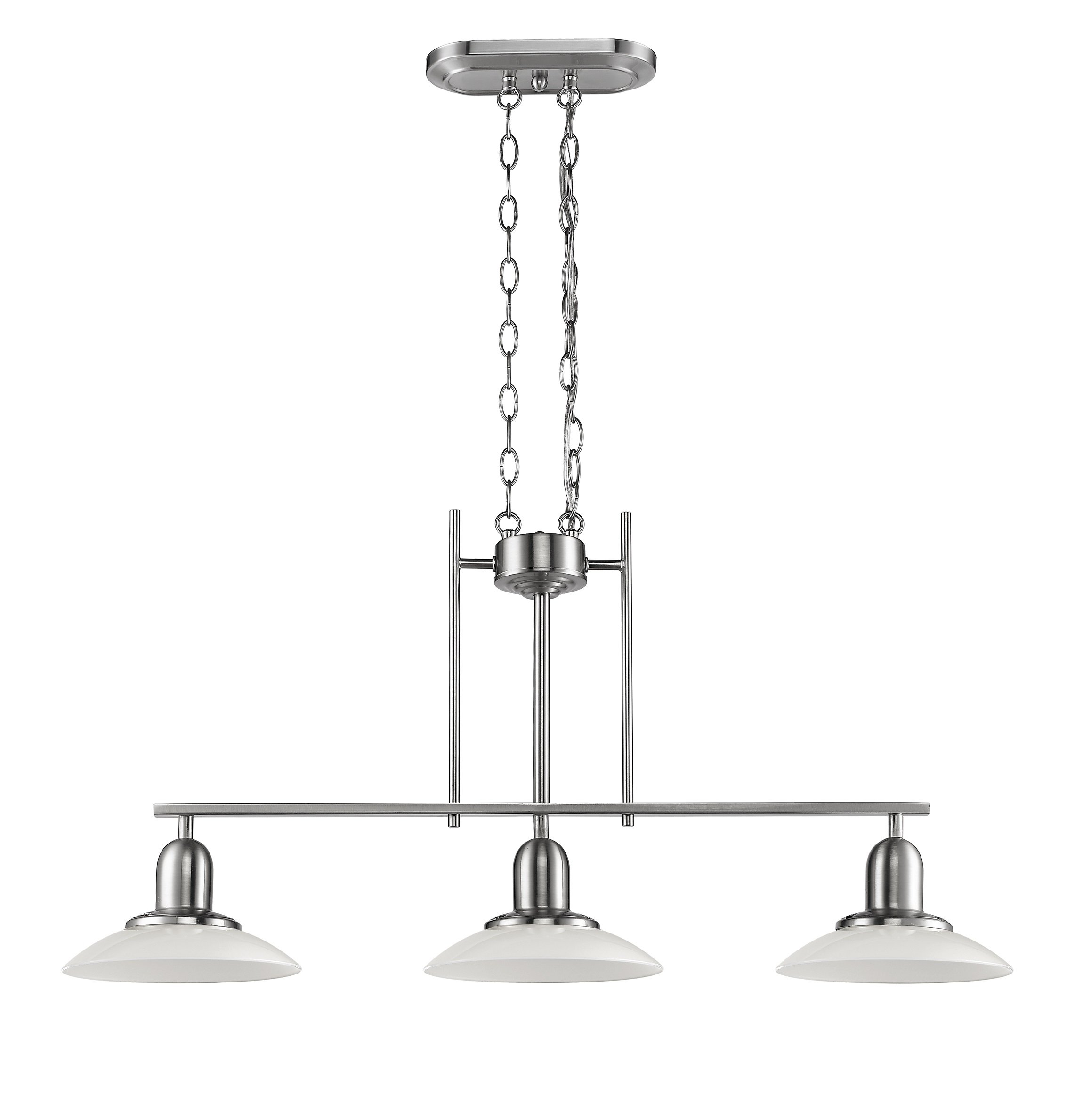 Chloe Lighting CH28001BN32-IL3 Neleh Transitional 3-Light Island Fixture, 32'', Brushed Nickel
