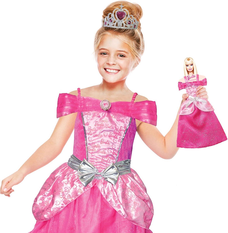 amscan – Chica Disfraz Barbie Corazón Princesa y Mini Me: Amazon ...