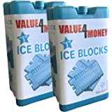 Pack of 3/6 - Freezer Blocks - Use With a Cool Bag For Added Cooling - Cools & Keeps Food Fresh (Pack of 6)