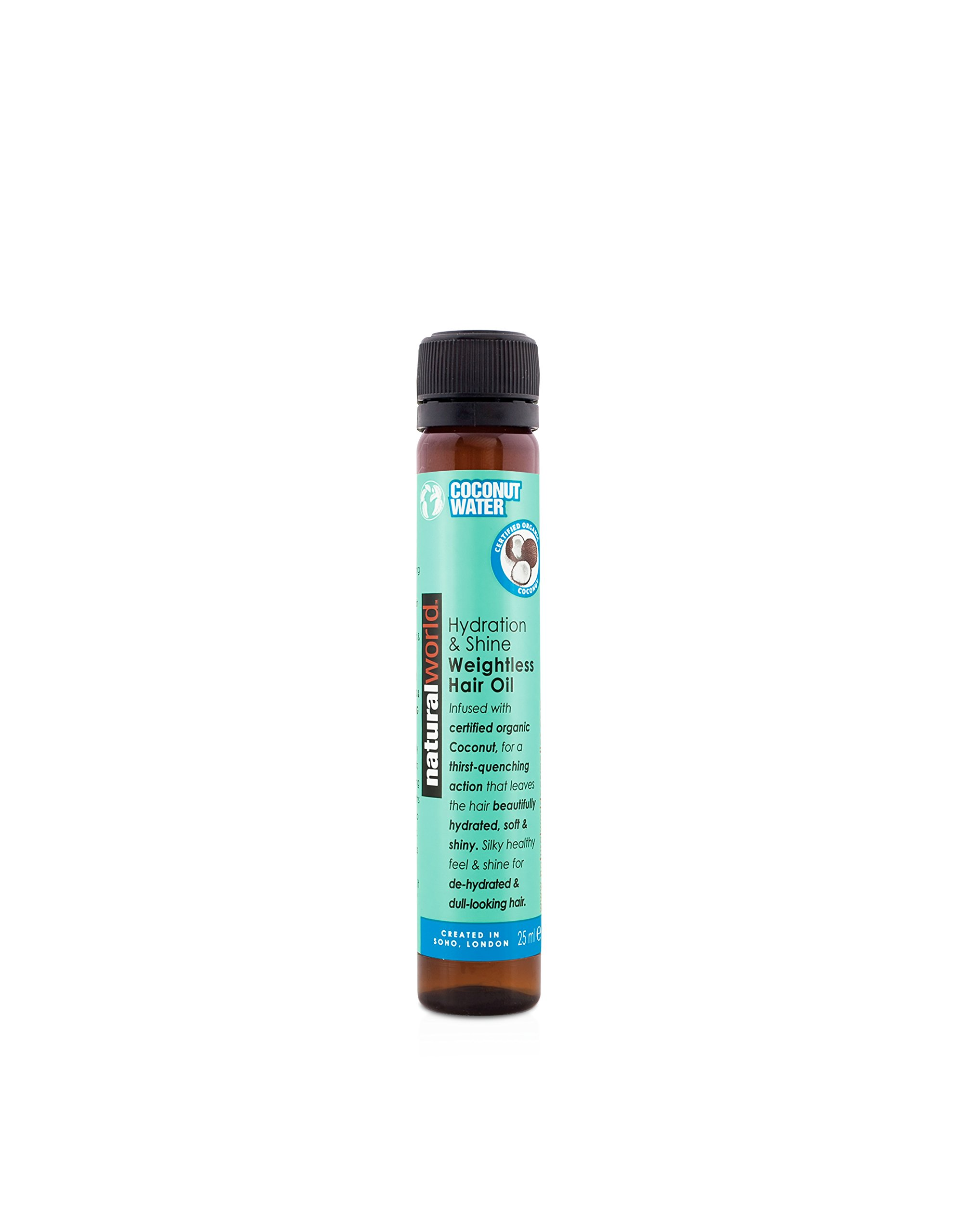 Natural World Coconut Water Hydration and Shine Weightless Hair Oil 25 ml