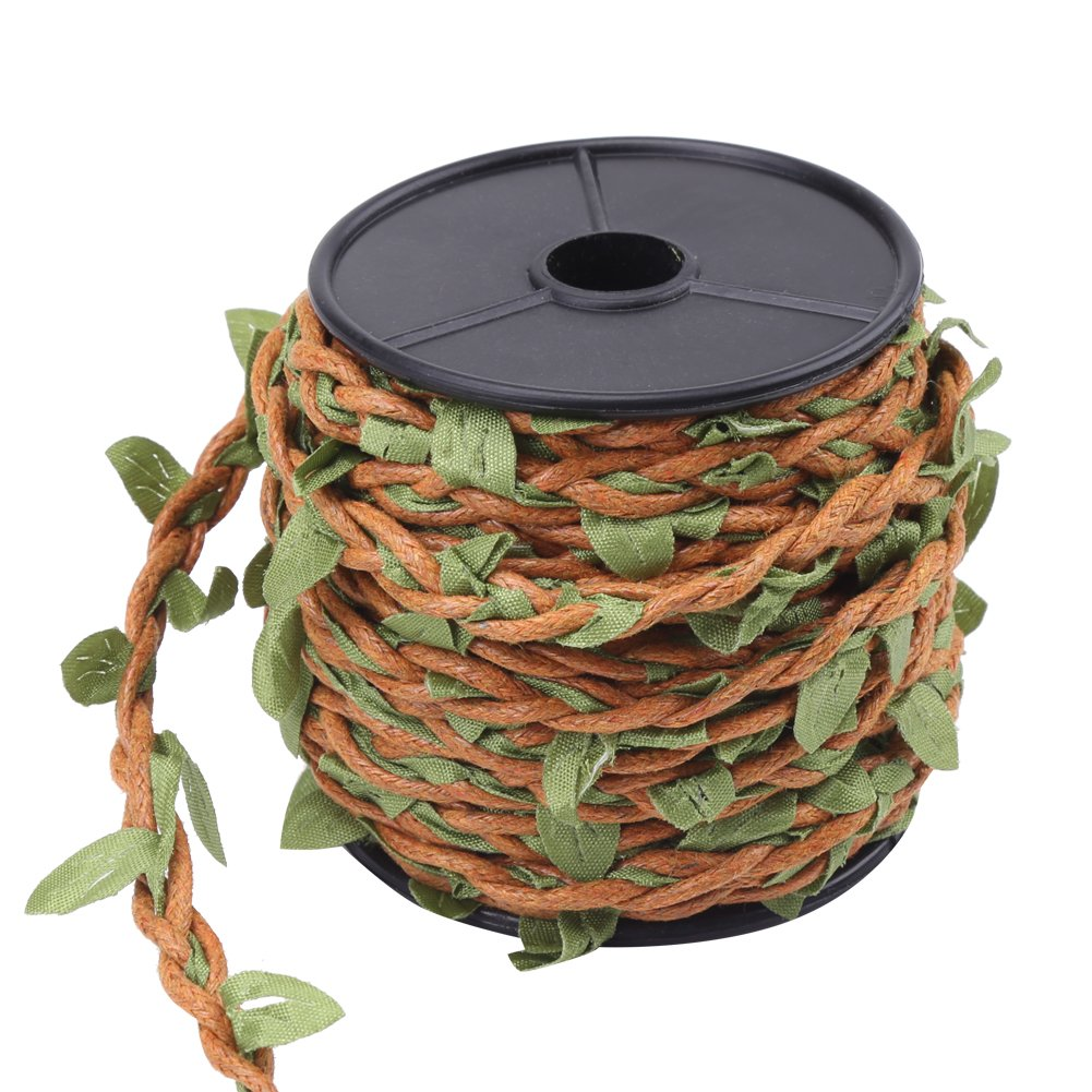 10M//Roll Simulation Burlap Leaves Art /& Crafting Mixed Knitting Forest Series Silk Ivy Hemp Wax Jute Rope DIY Decoration 5mm Wax Rope-Brown