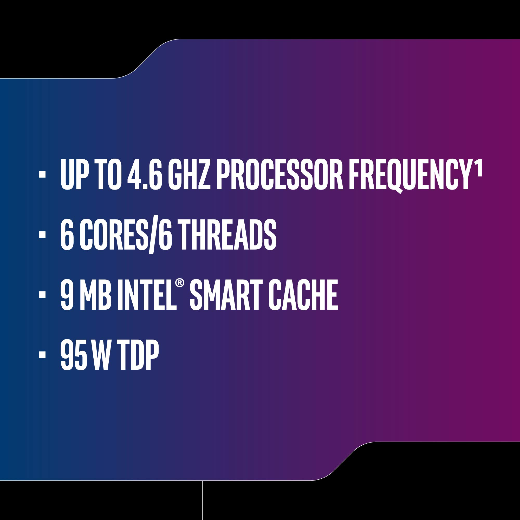 Intel Core i5-9600K Desktop Processor 6 Cores up to 4.6 GHz Turbo Unlocked LGA1151 300 Series 95W by Intel (Image #3)