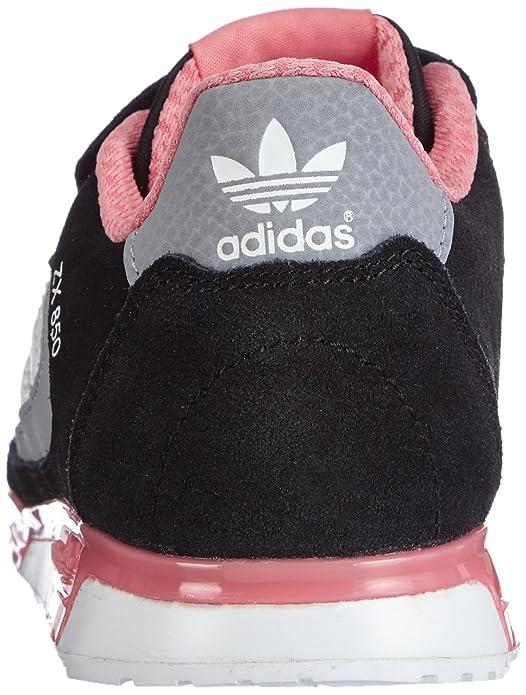 Adidas M19741 - Zapatillas de Running de Material sintético Niña, Color - Multicolor (Cblack/Ftwwht/Vispnk), 35