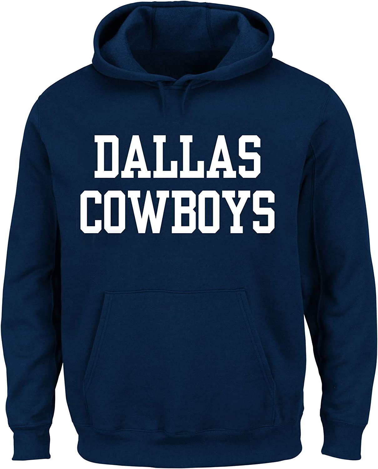 Navy 2X Dallas Cowboys Mens Big /& Tall Fleece Hood