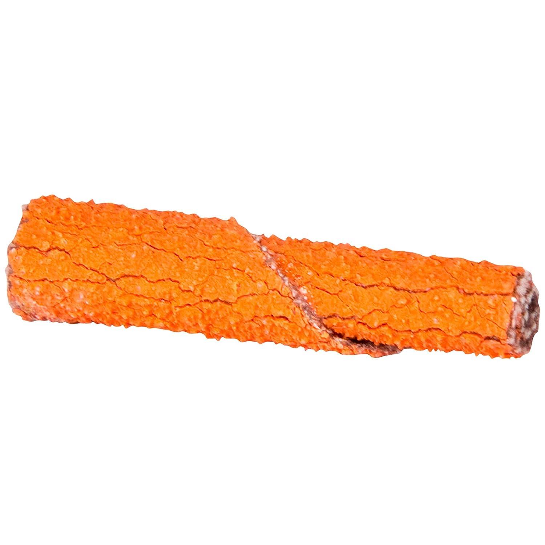 Pack of 100 Merit Blaze Abrasive Cartridge Roll Grit 80 1//8 Arbor Roll 3//8 Diameter x 1-1//2 Length
