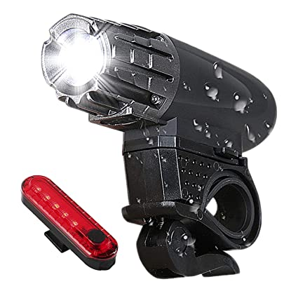 Headlight /& Tail Light Set USB Rechargeable Super Bright Waterproof Bike Light