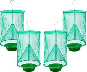 Convenientools Ranch Fly Trap The Most Effective Trap Ever Made with Food Bait Flay Catcher for Outdoor (4pcs)