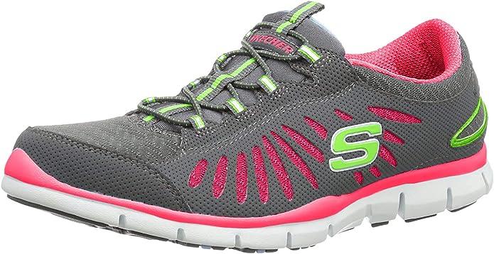 Skechers - Zapatillas de baloncesto para mujer gris Gray/Pink ...