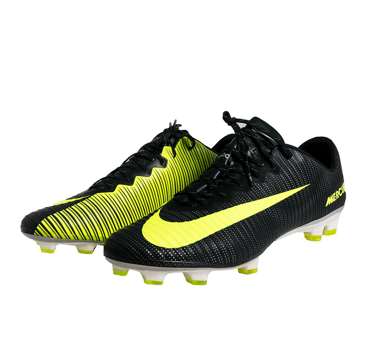 NIKE Mercurial Vapor XI CR7 FG Men's Firm Ground Soccer Cleat B01M9A80J4 10 M US|Seaweed/Volt