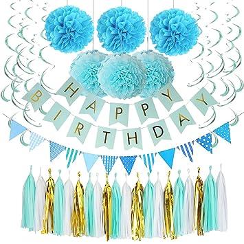 Amazon.com: Alodidae - Decoración de cumpleaños rosa y ...