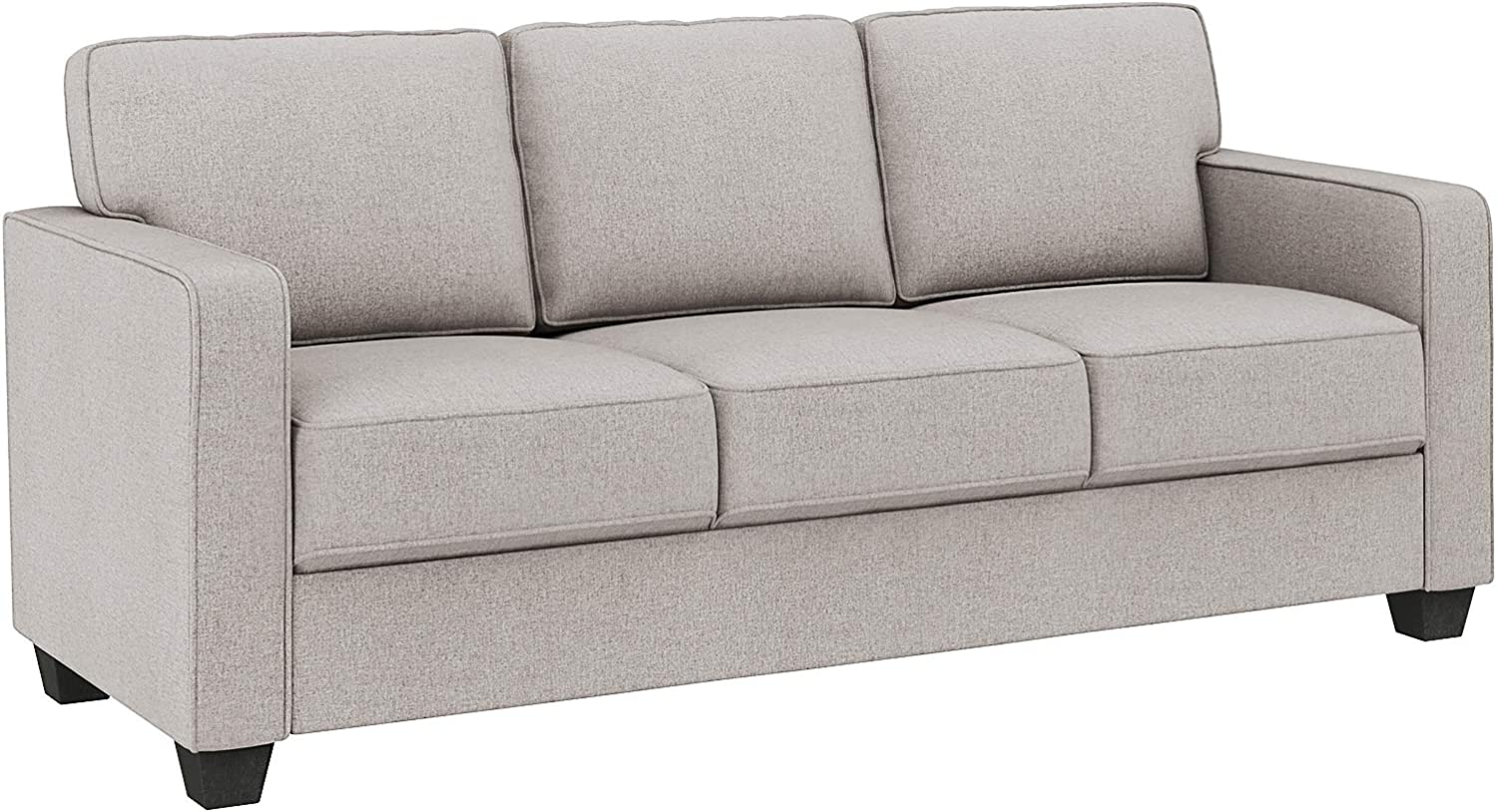 VASAGLE Sofa, Couch for Living Room Modern Upholstered, Cotton-Linen Surface, 78.7 x 32.3 x 35.4 Inches, Beige