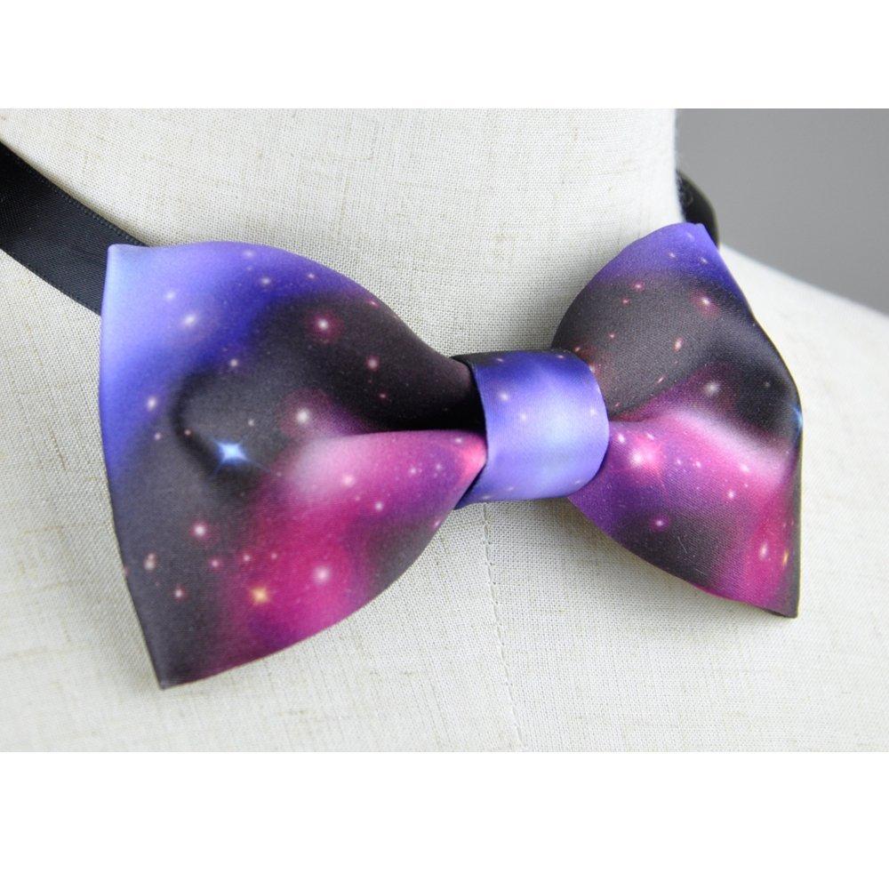 Galaxy bow tie, Galazy Men's bow tie, Men's bow tie, handmade bow tie, personalize bow tie, pre tied bow tie Galazy Men's bow tie