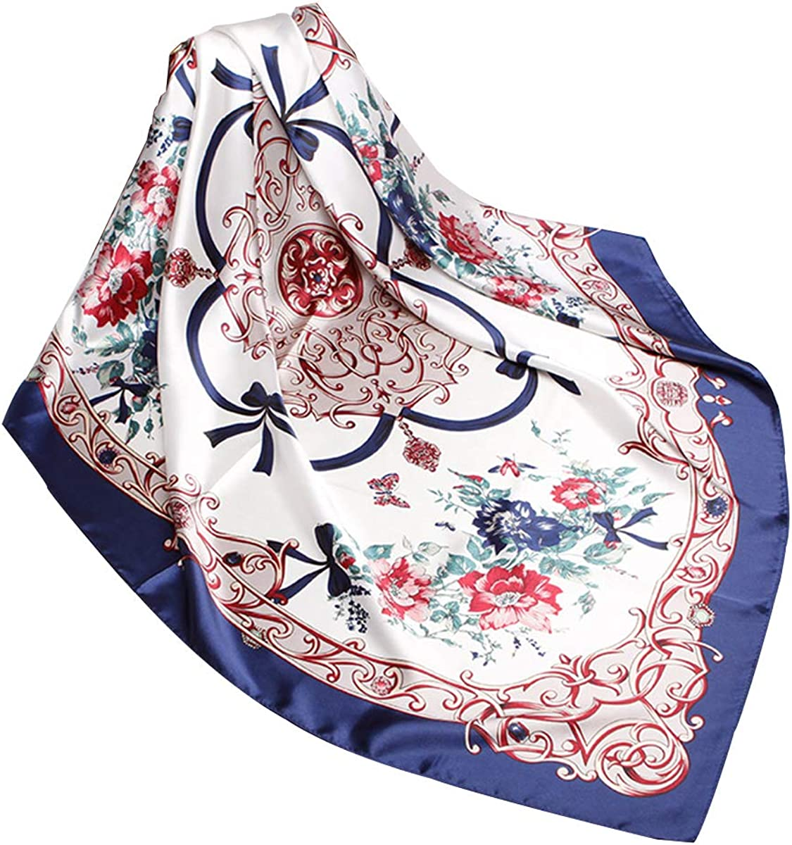 Cat Print Scarf Lightweight  Soft Silky Satin Feel Printed Fashion Scarves