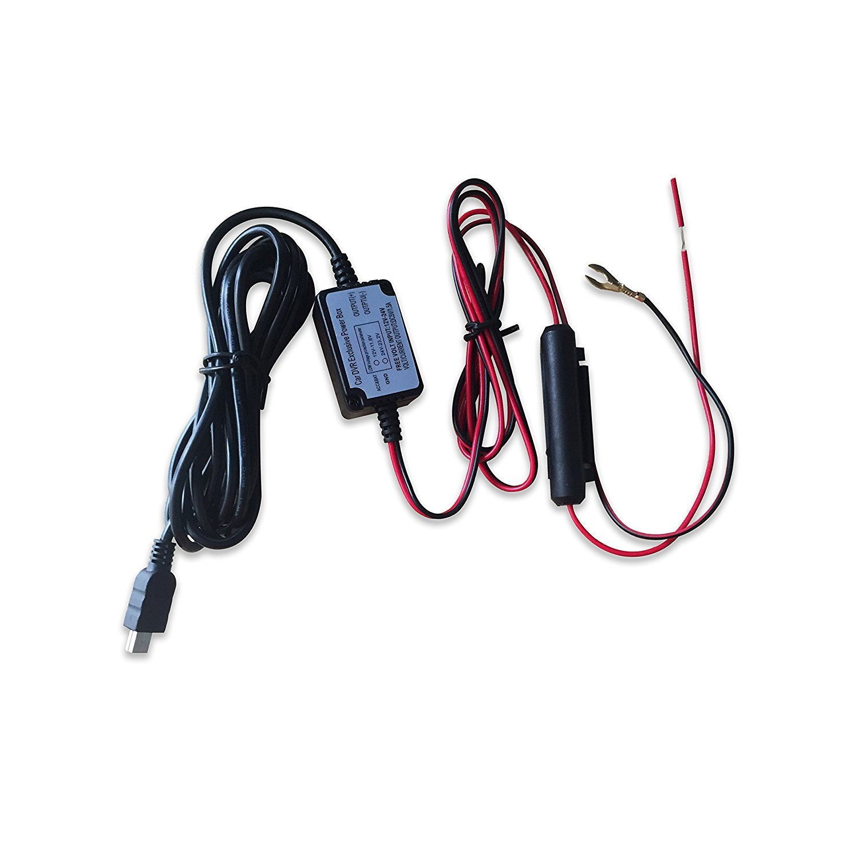 Kit dur de fil de v/éhicule de cam/éra de tiret avec des dispositifs micro USB pour lenregistreur de cam/éra de voiture DVR droit ange micro USB