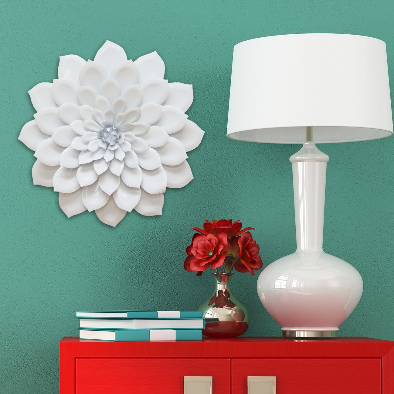 Amazon.com: Stratton Home Decor SHD0018 Layered Flower Wall Decor: Home U0026  Kitchen Part 59