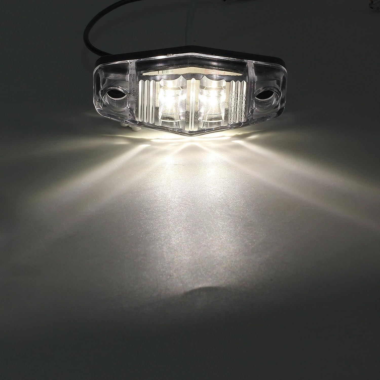 AUTOUTLET 10PCS LED Front Side Marker White Light Waterproof for 12V//24V Car Truck Van Trailer Lorry Lamp 12V 24V