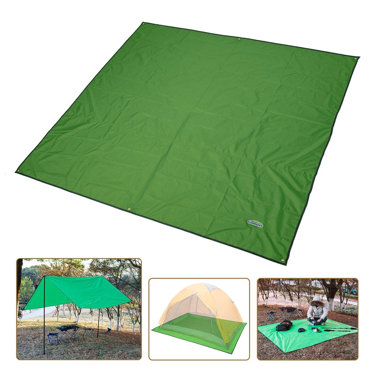 Overmont Toldo Estera Alfombrilla Manta Impermeable Plegable de Lona para Tienda de campa/ña Camping Picnic Playa Senderismo al Aire Libre con Bolsa Azul//Verde//Naranja
