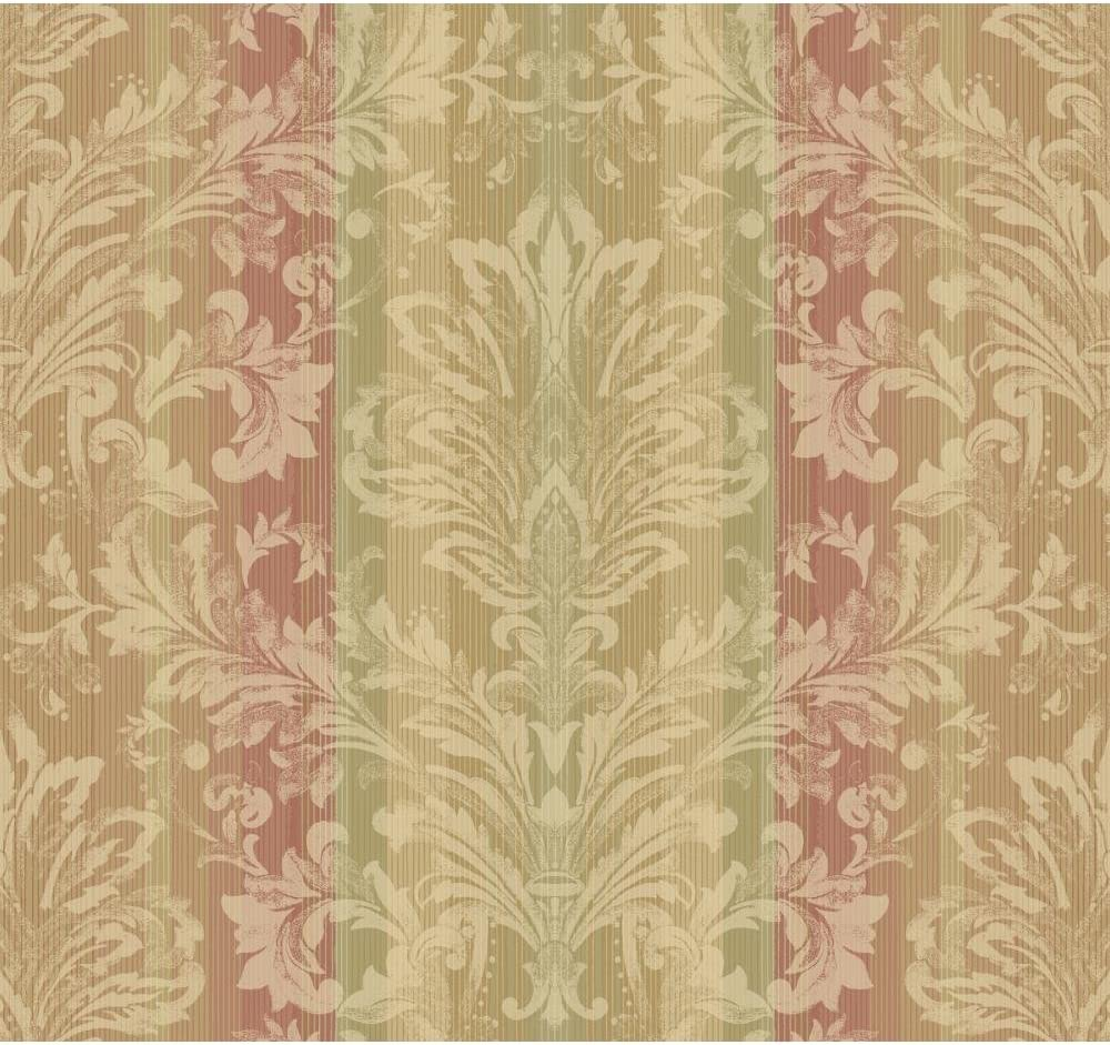 Amazon Com Striped Floral Damask Red Brown Yw1474 Metallic